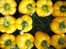 High Angle View Of Bell Peppers