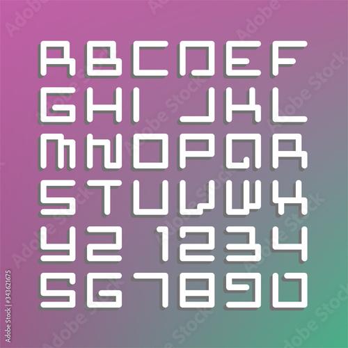 Modern astro font. Latin  Fototapete