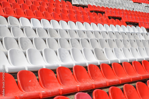 Photo Empty seats in the stands of the arena