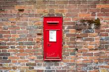 British Mailbox On A Brick Wal...
