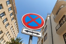 No Stopping Traffic Sign On A ...