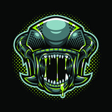 The Aliens Head Mascot Logo