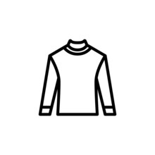 Sweater Vector Icon In Outline...