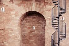 Spiral Staircase Outside Histo...