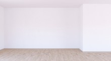 Empty White Room With White Wa...