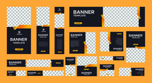 Set Of Modern Black Banners Of...