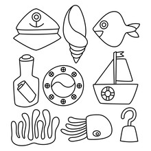 Fish, Marine And Ocean Life Co...