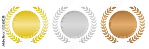 Photo メダルセット 金銀銅 月桂冠