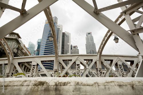 Anderson Bridge Singapore Canvas Print