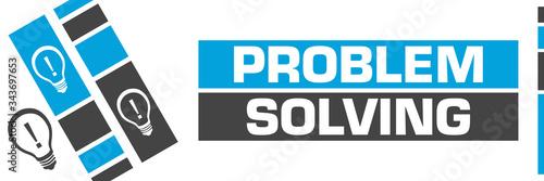 Fotografía Problem Solving Blue Grey Line Boxes Bulbs