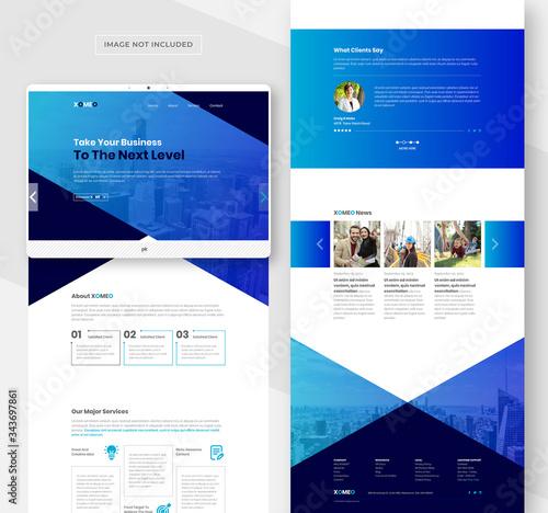 Fotografie, Tablou Corporate web template for multipurpose business website