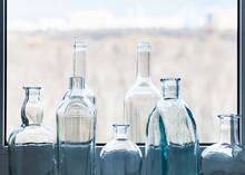 Many Empty Drunk Bottles And V...