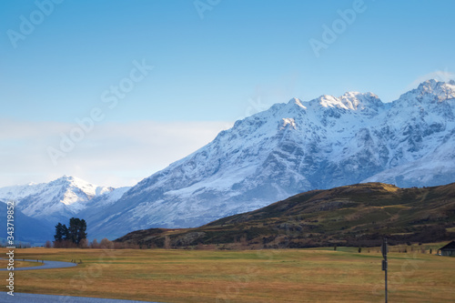 Mountain views from a country road, South Island New Zealand