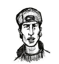 Hand Drawn Sketch Portrait Of ...
