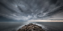 Approaching Storm On The Sea A...