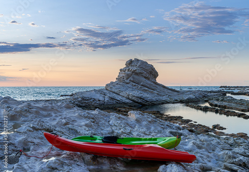 Kayak Sunset Canvas-taulu