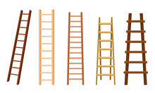 Wooden Stairs Or Step Ladders ...