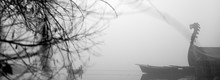 Dragon Boat In A Mist And Fogg...