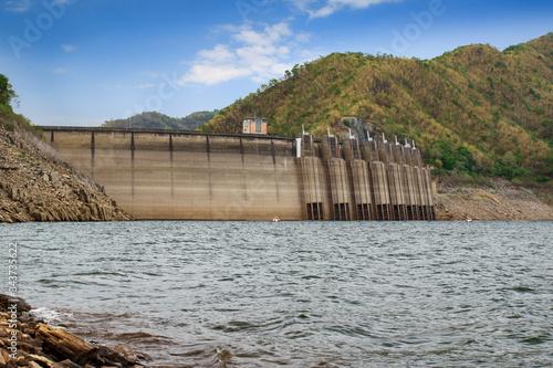 Image of view of bhumibol dam in tak Thailand Fototapeta