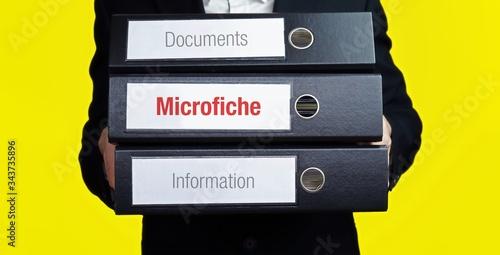 Microfiche – finance/economics Fototapeta