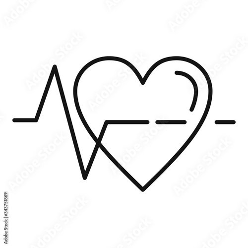 Heart rate icon Canvas-taulu