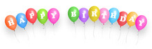 Happy Birthday. Color Balloons