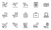 Airport Vector Line Icons. Air...