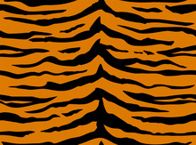 Seamless Pattern With Tiger St...
