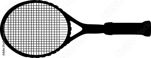 Photo Tennis racket vector illustration on white background