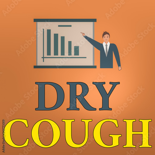 Photo Writing note showing Dry Cough