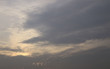 Beautiful sunset sky above clouds,sunset sky background.