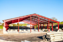 Steel Structure For Further Construction On Building Plot