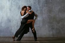 Tango Pair Dancers. Dance In B...