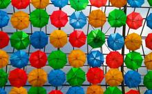 Full Frame Shot Of Colorful Um...