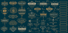 Vintage Logos And Elements. Ve...