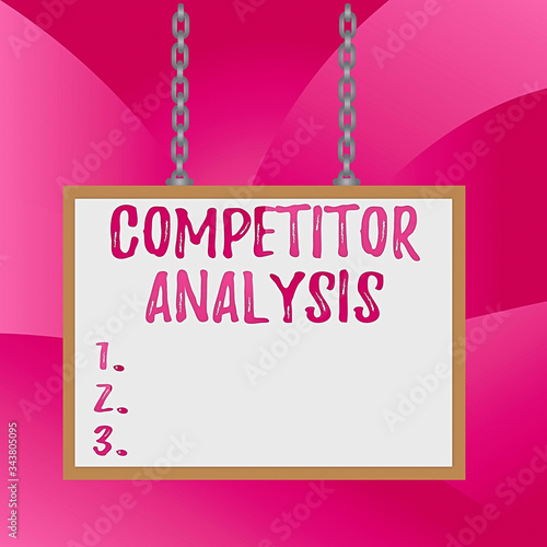 Photo Handwriting text Competitor Analysis