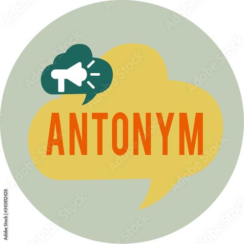 Photo Word writing text Antonym