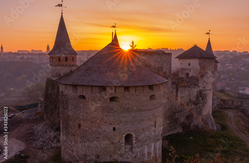 Cuadros en Lienzo medieval castle or stronghold in Kamianets-Podilskyi