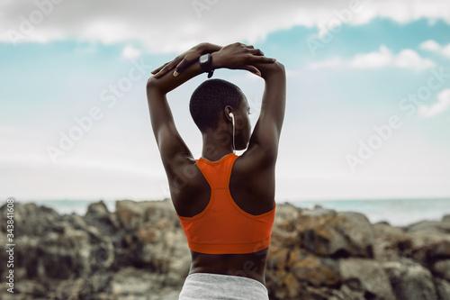 Obraz Fitness woman doing stretching workout - fototapety do salonu