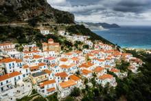 Velanidia, The Byzantine Village In Laconia, Greece