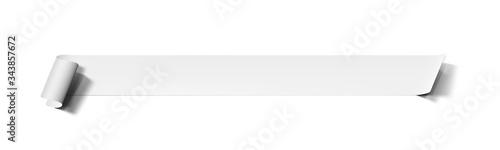 3D White Paper Ribbon Banner With Shadow Tapéta, Fotótapéta