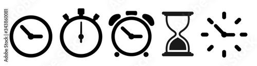 Fotografía Vector hourglass set icons. Sandglass icon