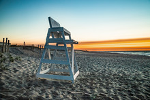 An Empty Lifeguard Stand Is Th...
