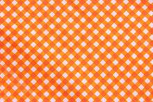 Classic Orange Plaid Fabric Or...