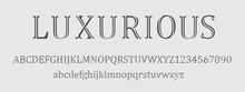 Luxurious Font And Numbers Des...