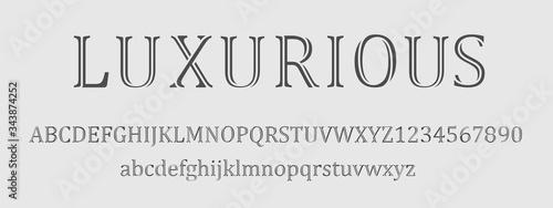 Carta da parati luxurious font and numbers design