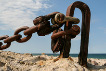 Old Rustic Rusty Anchor Chain