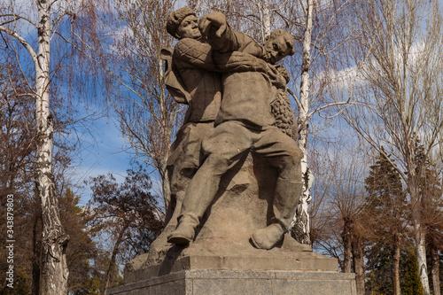 Mamaev Kurgan, Volgograd, Russia - march 21, 2020 Fotobehang