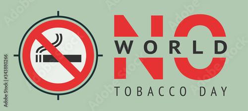 Label World no tobacco day, vector illustration for print Canvas Print