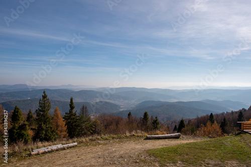 Obraz Mountain Jaworzyna Krynicka in Beskid Sądecki - fototapety do salonu